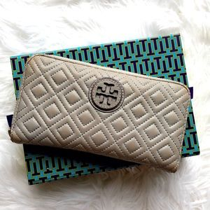 🌟 Tory Burch Marion Quilted Zip Wallet